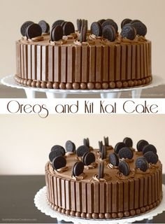 Oreos and Kit Kat Cake - would love to do a variation on this theme involving choc oranges for Dad's birthday