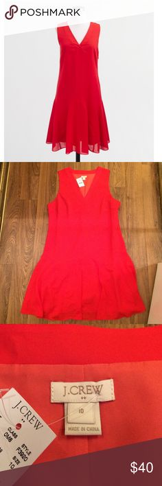 J. Crew Factory Flounce Dress in Cerise Absolutely gorgeous dress in an amazing color. Super cute paired with leopard. NWT. J. Crew Dresses