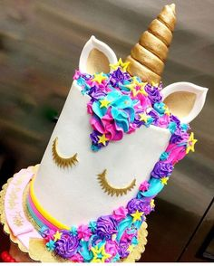 "888 Likes, 12 Comments - The Cake Mamas (@thecakemamas) on Instagram: ""Definitely one of our most requested Unicorn cakes that we've made! We made this for @teamsparkle's…"""