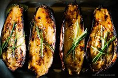 Rôti au four Aubergine caramélisés Miso recette