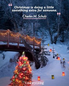 """""""Christmas is doing a little something extra for someone."""""""