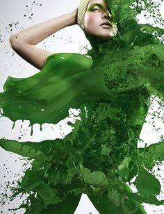 Photographer Iain Crawford Dresses Models in Paint Splashes | DeMilked