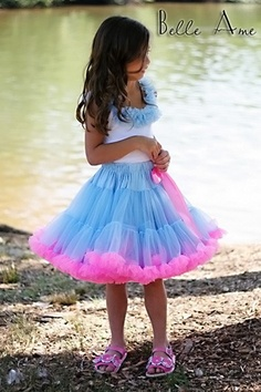 a943ea71664 Blue and Pink Pettiskirt by Belle Ame Doodle