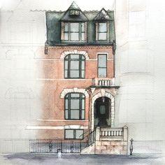 rendering of 7th Ave Brooklyn Brownstone