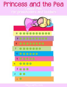 This Princess and the Pea lesson plan is full of fun learning activities for your preschoolers and toddlers including lots of free printables! Princess Activities, Fairy Tale Activities, Preschool Activities, Educational Activities, Fairy Tale Crafts, Fairy Tale Theme, Preschool Lessons, Preschool Crafts, Fairy Tales Unit