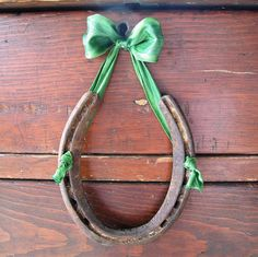 For the horse shoe above our door... so much prettier than just nailing it up there.