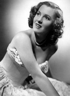 Jean Arthur glamour publicity shot (1940s) (Columbia Pictures)