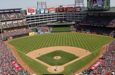 """Globe Life Park in Arlington - Home to the Texas Rangers- My home away from home, and we still refer to it as """"the Ballpark"""". Screw off Globe Life!"""
