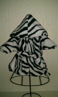 Bitty Baby zebra robe. $7.00, via Etsy. Ahhh!! I love this!  :)