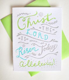 Hey, I found this really awesome Etsy listing at https://www.etsy.com/listing/181773301/letterpress-easter-card-christ-the-lord