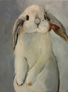 Norma Wilson Original Oil Lop Eared Bunny Rabbit Animal Painting Art -- Norma Wilson