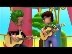 Alex, aprender instrumentos de musica: La guitarra. Videos de dibujos de musica para niños, recursos educativos