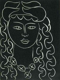 By Henri Matisse, frontispiece in the book Pasiphaé: Chant de Minos (Les Crétois) by H. de Montherlant, 1944