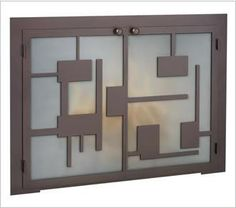 Jig saw style masonry fireplace door with a variety of options for you to choose from. Customize these fireplace doors to match your home decor! Custom Cabinet Doors, Glass Cabinet Doors, Custom Cabinets, Paint Furniture, Cool Furniture, Fireplace Glass Doors, Hearth And Home, Fireplace Accessories, Interior Decorating