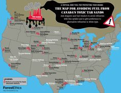 Tar sands refineries map from Forest Ethics forestethics-refineries-map-large.png (1200×922)