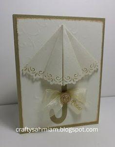 crafty sahm i am: Pop Open Umbrella Card - Bridal Shower