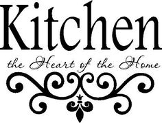 Kitchen Wall Quote Vinyl Decal Lettering Decor Sticky