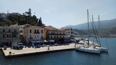 POROS OLD CLOCK VIEW BY FERRY BOAT