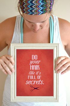 Funny Salon Art Print, Mean Girls Quote, Hair Quote Art Print, Hair Full of Secrets 8 x 10 on Etsy, $16.00