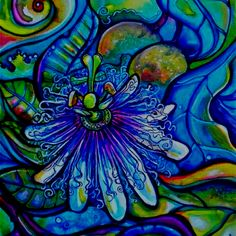 Passion Flower Painting :)    ...BTW,Please Check this out:  http://artcaffeine.imobileappsys.com - I want this!!!