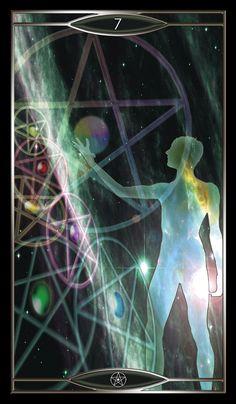 Seven of Pentacles - Quantum Tarot Version 2.0