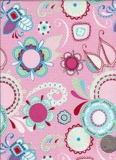 "Main Light Pink  ""Flower Child"" designed by Rosalie Dekker. (Quinlan)"