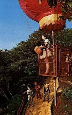 The Land of OZ is a now defunct theme park on top of Beach Mountain in NC.