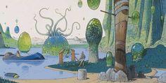Moebius (Jean Giraud) – The Time Masters Jean Giraud, Comic Book Artists, Comic Artist, Moebius Art, 70s Sci Fi Art, Ligne Claire, Science Fiction Art, Environment Concept Art, Manado