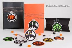 Halloween tags from Patricia Zapata's Halloween Kit | Under A Cherry Tree