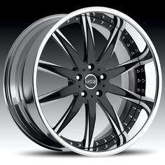 Black And Chrome Rims, Chrome Wheels, Car Wheels, Aluminum Rims, Aluminum Wheels, Custom Wheels, Custom Cars, Rims And Tires, Car Rims