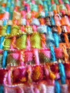 Beautiful and creative weaving and fabric making. Lovely! | Serendipity SAORI Studio