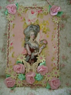 Big cabbage roses,shabby ,cottage,victoirian,french,marie antoinette wall hanging 1 by stephanies cottage!, via Flickr