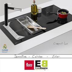 Innovation - Evier Teka By Essebagno - Compact Lux Robinet Ultrate Noir #essebagno #design #cuisine #robinet #realmadrid #tapdesign #tap #design #kitchen #kitchendesign #interiordesign #designer #designinspiration #homedecor #homedesign #faucetdesign #faucet #Culinary #Cooking #Chef #instagood #sponsor #logodesigner #esthetic #water #sink #gelato #lux #evier #teka http://www.essebagno.fr/eviers-cuisines.html