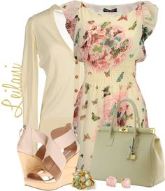"""Yellow summer dress"" by leilani-almazan on Polyvore"