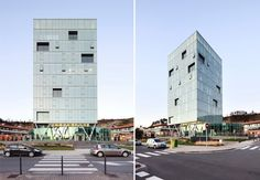 Green office tower, double skin facade, daylighting, natural cooling office, Hoz Fontán Arquitectos, Spain Green building, Spain green highrise