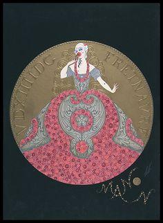 Erte - costume IV Manon 1922