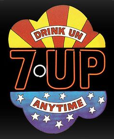 7UP The Uncola Graphic, c1970 Drink UN Anytime Image from official 7UP website