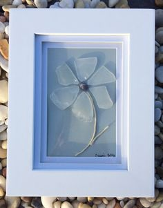 Sea Glass Flower Genuine Clear Sea Glass by SeasTheDaySeaGlassCo