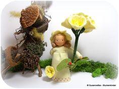 Wiesenschlüssel Blumenkinder Jahreszeitentisch von Susannelfes Blumenkinder  auf DaWanda.com