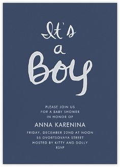 Find This Pin And More On Baby Shower By Jesssepkowitz. Brilliant Boy    Navy   Paperless Post
