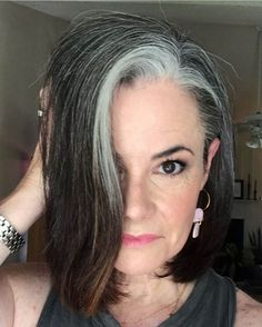 25 Women Who Quit Dying Their Hair and Look so Amazing You'll Want to Join Them | Thinking of going gray? These women are sharing their journey with growing in their gray and growing out their hair dye and showing us all how to go gray gracefully. They'll inspire you to ditch your hair dye and let your gray grow in too, I promise! Going Gray Gracefully, Beautiful Women Over 40, Dying Your Hair, Fierce Women, Grow Out, Hair Dye, Join, Journey, Inspire