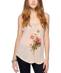 confidential floral tank top    ////    $19.97