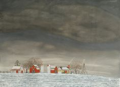 FARM IV, WINTER  22 x 30   $1,050.00
