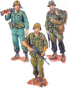 """Vietnam Airborne: • PFC, 1st Bde., 101 st Abn. Div., 1965 • Sgt. 3d Bde., 82d Abn. Div., 1968 • S/Sgt., 173d Abn. Bde., 1971"", Ronald Volstad"