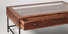 Swoon Editions Coffee table, contemporary style in rosewood and iron - £299