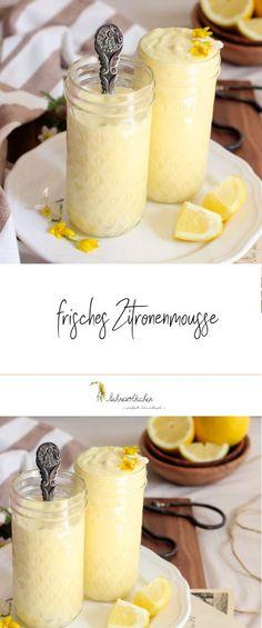 Rezept Zitronenmousse / Zitronencreme
