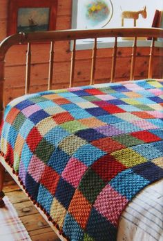 Patchwork cabin bedding