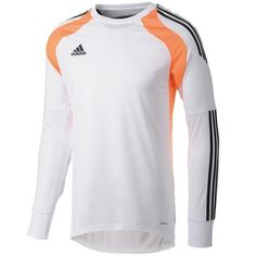 adidas Onore 14 White/Orange Soccer Goalkeeper Jersey - model F94655 - Only $58.49