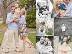 Family Picture Ideas- I love the pose in the black and white pic at the bottom!