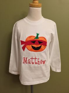 A personal favorite from my Etsy shop https://www.etsy.com/listing/250999214/ninja-turtle-pumpkin-applique-shirt